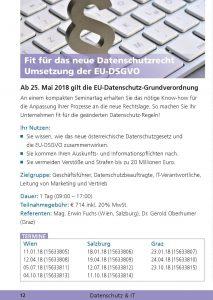 Fit für das neue Datenschutzrecht Umsetzung der EU-DSGVO