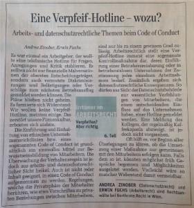 Eine Verpfeif- Hotline- wozu.Zinober, Fuchs