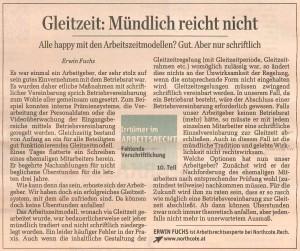 Fuchs Standard Gleitzeit